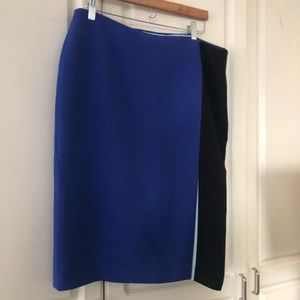 Boden Colorblocked Pencil Skirt, Size 14L